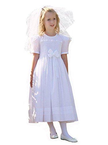 Carouselwear Girls First Holy Communion Smocked -