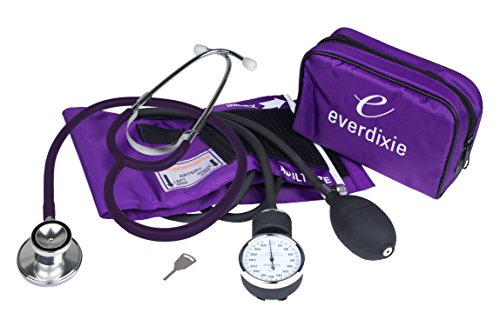 (Dixie Ems Blood Pressure and Dual Head Stethoscope Kit (Purple))