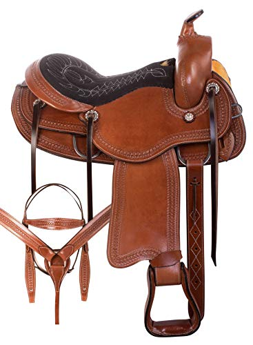 AceRugs Walking Horse Saddle GAITED Bars Western Endurance Riding Pleasure Trail All Purpose TACK Package Size 15 16 17 18 (Tan, 18)