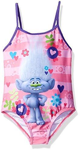 Trolls Girls Swimwear Swimsuit (Toddler/Little Kid) (5-6, Guy Diamond One Piece)