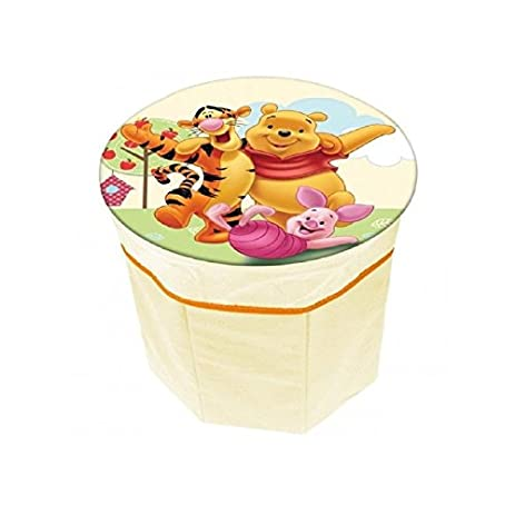 Disney Winnie The Pooh Storage Box Stool Chair Padded Seat Collapsible Storage by DIsney  sc 1 st  Amazon.com & Amazon.com: Disney Winnie The Pooh Storage Box Stool Chair Padded ...