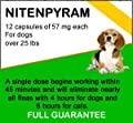12 Nitenpyram 57 mg - Flea killer for dogs over 25 lbs