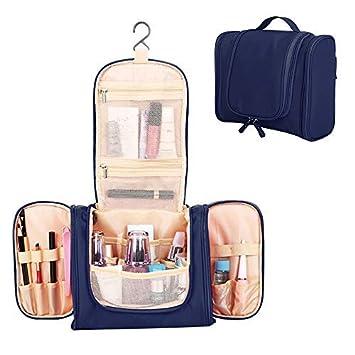 8244830e5 HALOViE Bolsas de Aseo Impermeable Neceser de Viaje con Gancho Colgante  Organizador de Cosmético Maquillaje Bolsa Bolso Grande Plegable Mujer para  Hogar ...