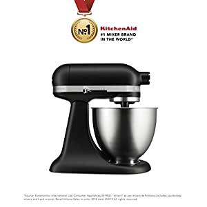 KitchenAid Artisan Series 5KSM3311XBFG 250-Watt 3.3-Litre Mini Stand Mixer (Matte Grey)