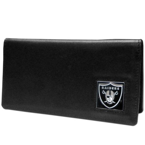 NFL Oakland Raiders Leather Checkbook Cover ()
