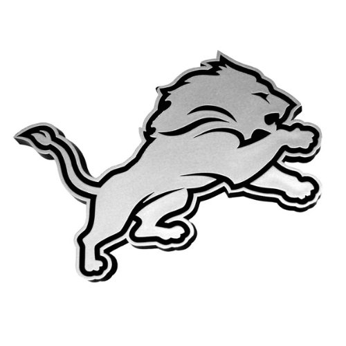 Detroit Lions Chrome 3D for Auto Car Truck Emblem Decal Sticker Football Licensed Team Logo