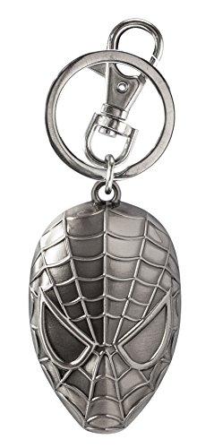 Marvel Spider-Man Head Pewter Key Ring (Priceless French Movie)