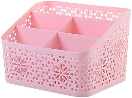 Multifunktionaler Desktop-Organizer, aufgeräumter DIY-Schreibtischschrank mit 5 Gittern, Platz für Stifte, Kosmetika und andere kleine Gegenstände (19 * 12 * 13,5 cm, pink)