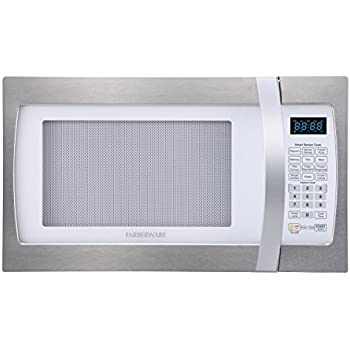 Ft. 1100-Watt Microwave Oven with Smart Sensor Cooking, ECO Mode and LED Lighting 2.2, White and Platinum