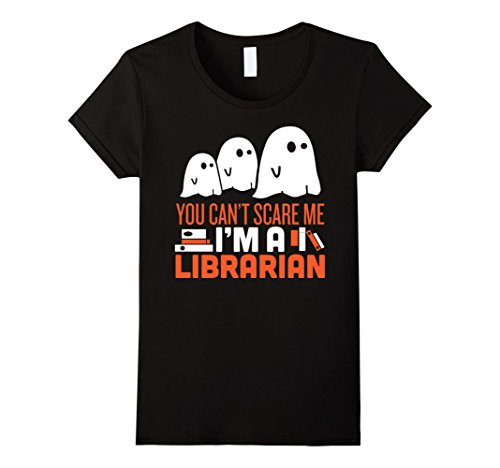 Womens Funny Scary Librarian Halloween Costume - Librarian Tshirt Medium (Halloween Librarian Costume)