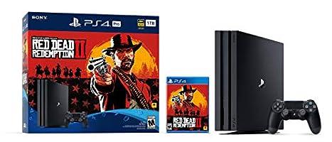 PlayStation 4 Pro 1TB Console -  Red Dead Redemption 2 Bundle