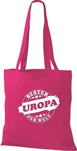 ShirtInStyle Bolso de tela Bolsa de algodón Bester UROPA der Welt Fucsia