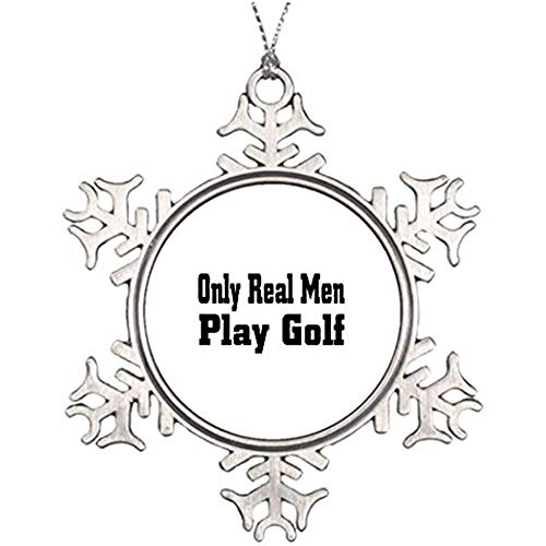Diuangfoong Xmas Trees Decorated Cart Golf Natural Christmas Snowflake Ornaments