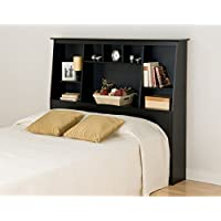 Metro Shop Broadway Black Full/Queen Tall Slant-back Bookcase Headboard