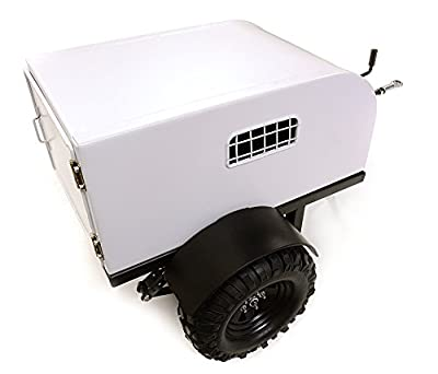 Integy RC Model Hop-ups C26976 Realistic Leaf Spring 1/10 Size Enclosed Trailer for Scale Crawler Truck