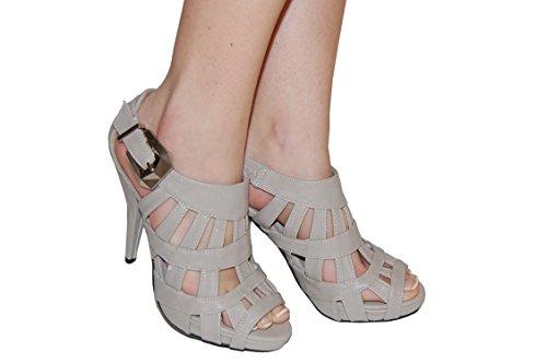 Sandales à talon - 41, Gris