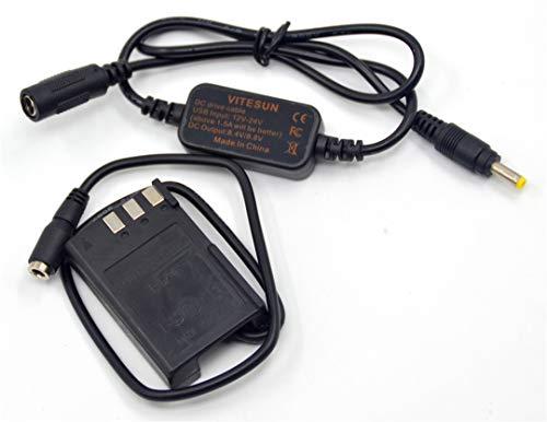 12V-24V Step-Down Charger DC Cable EH-5A + EP-5 DC Coupler EN-EL9 ENEL9 Dummy Battery for Nikon D40 D40X D60 D3000 D5000 Cameras (Nikon D40 D40x For Dummies)