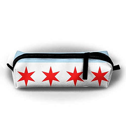 Flag Gel Pen - OLGCZM Flag Of Chicago Pencil Case,Pen Bag For Pens, Pencils, Highlighters, Gel Pen, Markers And Other School Supplies