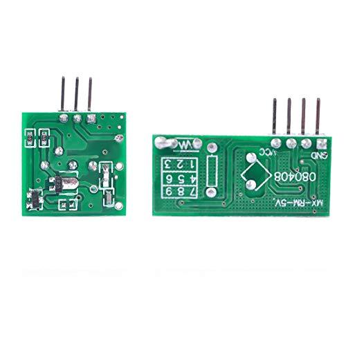HiLetgo 5pcs 433MHz RF Wireless Transmitter and Receiver - Import It All