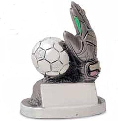 Trofeo fútbol Guante portero con balón – H cm 16 – Manivela – Made ...