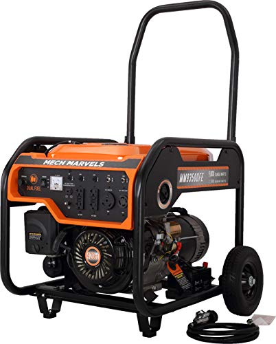Mech Marvels 9000 Watt Dual Fuel Portable Power Generator with Electric Start, CARB Compliant MM9350DFE