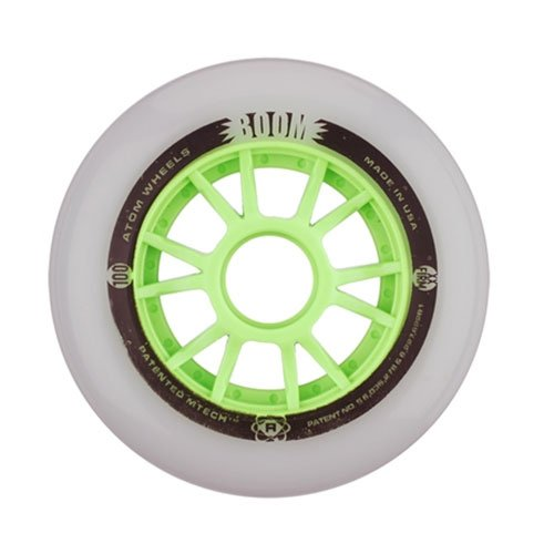 Atom Skates Boom 100mm Inline Skate Wheels - 8 Pack - 100mm/Xfirm by Atom Skates