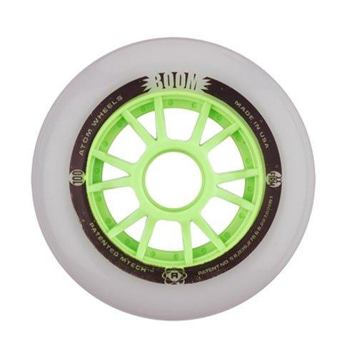 Atom Skates Boom 100mm Inline Skate Wheels - 8 Pack - 100mm/Xfirm