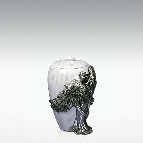 - Angelstar Angel's Embrace Pewter Urn, 5-Inch, 8 Cubic Inch (45420)