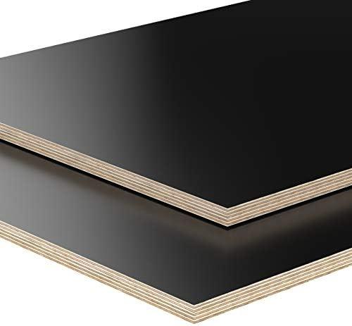 12mm Multiplex Zuschnitt 50 x 43,5 cm B-Ware schwarz melaminbeschichtet unbehandelt Restposten verschiedene Größen und Stärken zur Auswahl: Art.nr. 993-1-074 500 x 435 x 12 mm