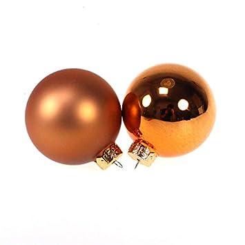 Christbaumkugeln Glas Kupfer.N A 16 Christbaumkugeln Glas Weihnachtskugeln Kugeln 80mm 8cm Farbe Kupfer