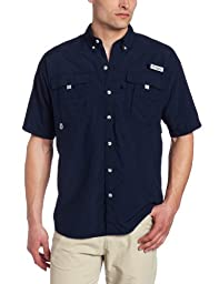Columbia Men\'s Bahama II Short Sleeve Shirt, Large, Collegiate Navy