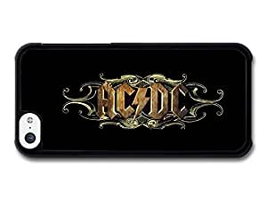 AMAF ? Accessories ACDC Brown Logo Black Blackground case for iPhone 5C