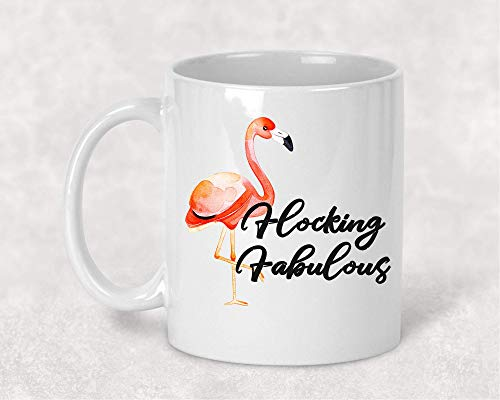 (Flocking Fabulous Flamingo Funny Coffee Cup Mug Gift for Her)