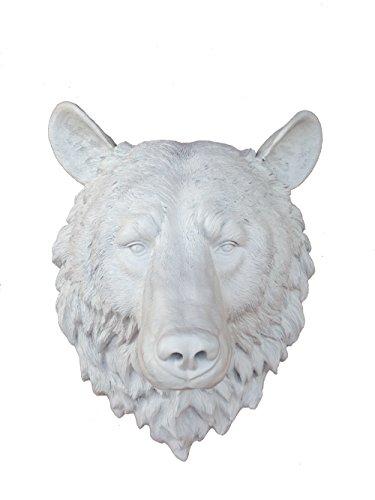 Fake White Bear Head | Faux Taxidermy | Fake White Resin Bea
