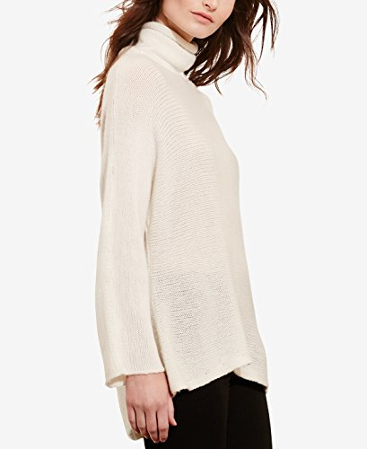 Funnel Neck Cashmere Sweater White Ivory XS (Cashmere Funnel Neck Sweater)