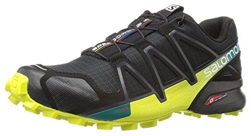 Salomon Men's Speedcross 4 Trail Runner, Black/Everglade/Sulphur, 7 M US by Salomon (Image #1)