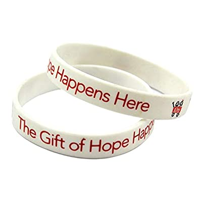 Silicone Wristbands with Sayings The Gift Hope Happens Here Rubber Wristbands for Men and Kids Encouragement Set Pieces Estimated Price £19.74 -