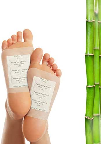Crescena Bamboo Vinegar Foot Pads | Remove Impurities - Cleansing | 30 Piece Patch | Aids in Relieving Stress and Tension | Reduce Foot Odor | Pain Relief | All-Natural Ingredients | Organic Foot Pads
