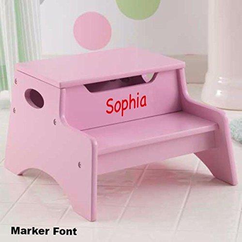 Step Stool with Storage - Pink