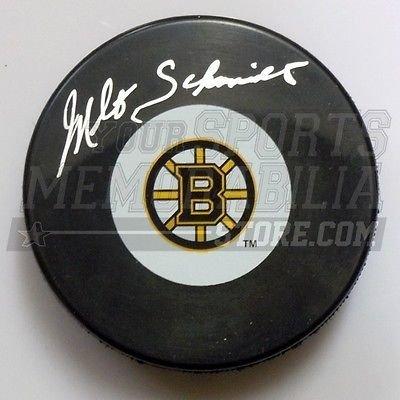 Milt Schmidt Boston Bruins Signed Autographed Small Bruins B Logo Puck by Bauer