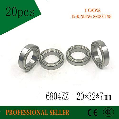 2 PCS 20x32x7 mm Metal Shielded Ball Bearing 20*32*7 Bearings 6804ZZ