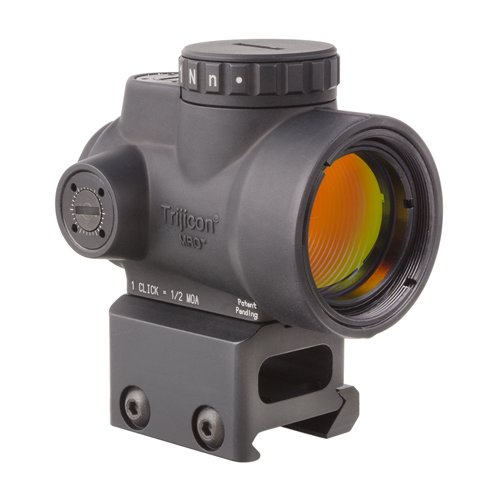 Trijicon MRO-C-2200005 1x25mm Miniature Rifle Optic (MRO) Riflescope with 2.0 MOA Adjustable Red Dot Reticle with Full Co-Witness Mount (Best Deal On Aimpoint Pro)