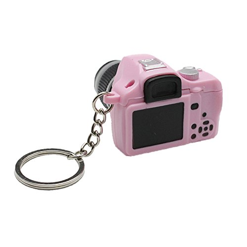 (Key Chain SLR Camera Toy LED Keychain with Flash Light and Shutter Sounds)