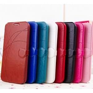 Line Pattern Leather Case For Samsung I9200 Galaxy Mega 6.3 --- Color:Pink
