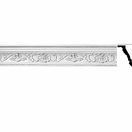 Renovator's Supply Ornate Cornice White Urethane 3 3/4