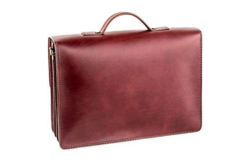 Cartella uomo PIERRE CARDIN borsa portadocumenti 3 comparti in vera pelle H119