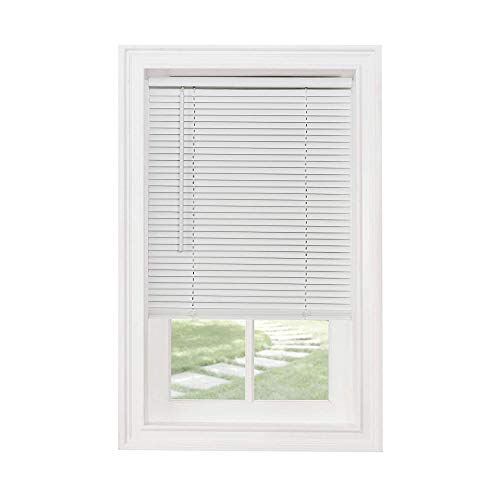 Classic Touch Cordless 1″ Light Filtering Mini Blind, 24″ Wide x 72″ Long, White