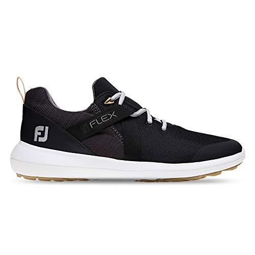 FootJoy Men's Flex Golf Shoes Black 12 M US