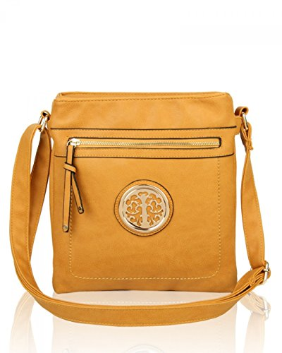 Bag Women's Quality BODY For Body CROSS Holiday LeahWard Shoulder Handbags Leather Small 945 Women Faux For Bags MUSTARD Cross SIUHndn4