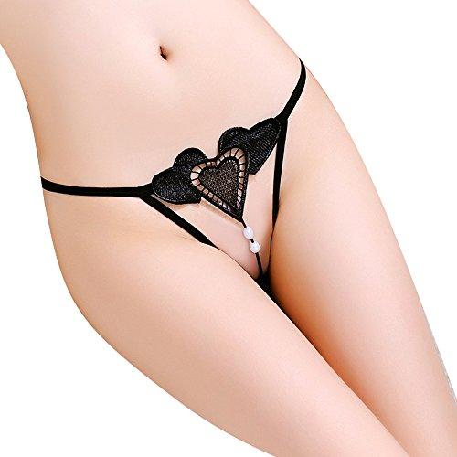 WJPT Weiblich Herzform Perle G-string Unterwäsche